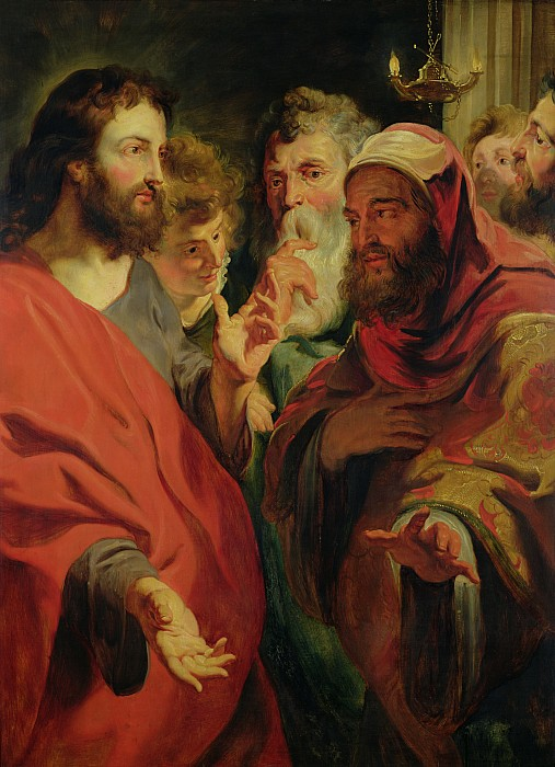 Christ Instructing Nicodemus Print by Jacob Jordaens