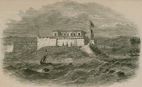 Christianborg Castle, On The Gold Coast Print by Everett