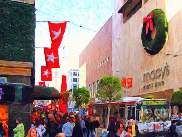 Christmas At Macys In San Francisco . Photoart Print by Wingsdomain Art and Photography