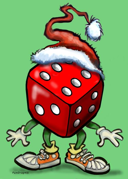 Christmas Casino Party Greeting Card  - Christmas Casino Party Fine Art Print