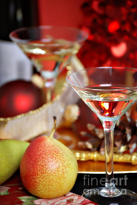 Christmas Cocktails Print by HD Connelly
