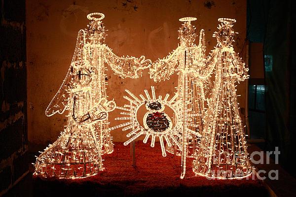 Christmas Scene Print by Gaspar Avila