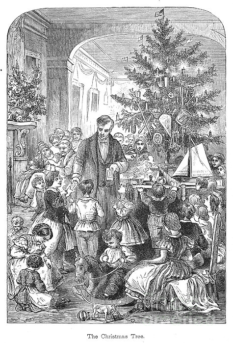 Christmas Tree, 1870 Print by Granger