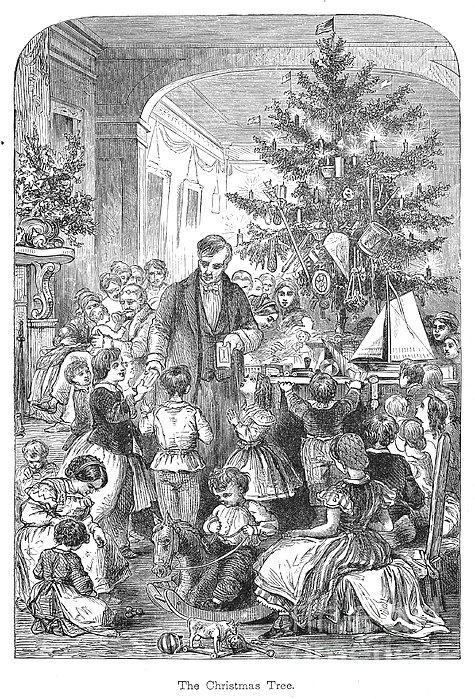 Christmas Tree, 1870 Print by Granger