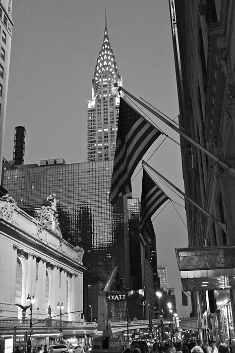 Chrysler Building And Grand Central Terminal Print by Jordan  Drapeau