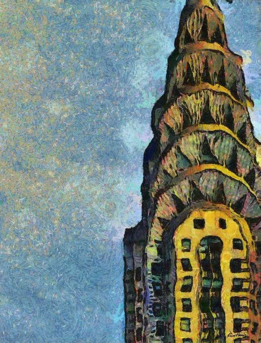 Chrysler Building New York Print by Russ Harris