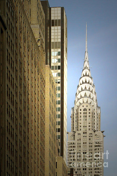 Chrysler Building Nyc - Streamlined Majesty Print by Christine Till