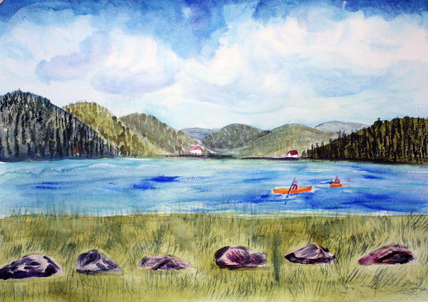 Chrystal Lake  Barton Vt  Print by Donna Walsh