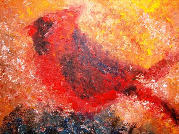 Chubby Cardinal Painting