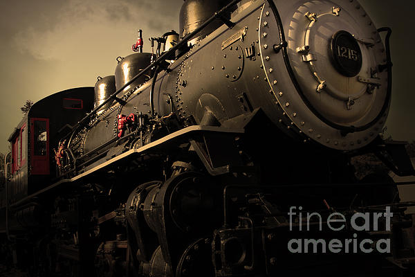 Chugging Across America In The Age Of Steam . Golden Cut . 7d12980 Print by Wingsdomain Art and Photography
