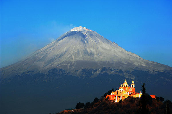Cristobal Garciaferro - Church and Volcano