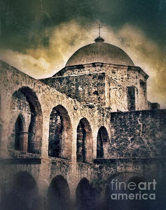 Church Arches And Dome Print by Jill Battaglia