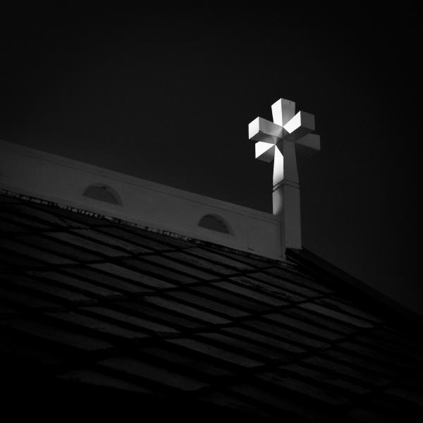 Church Cross Print by Dave Bowman
