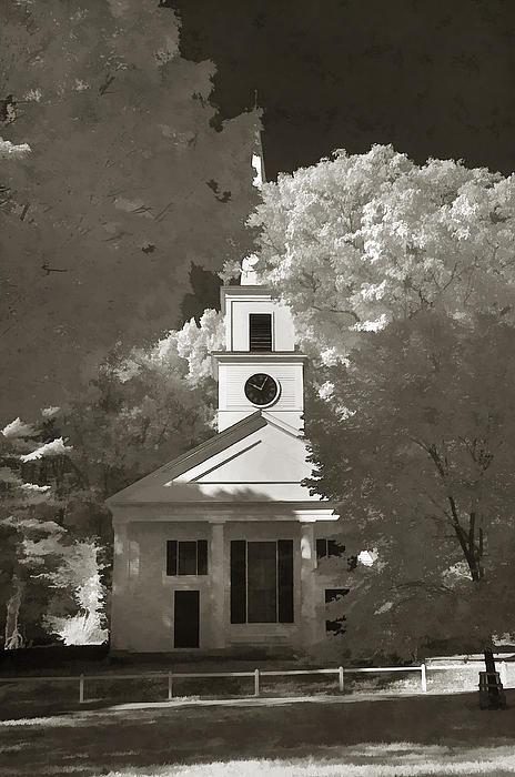 Church In Infrared Print by Joann Vitali