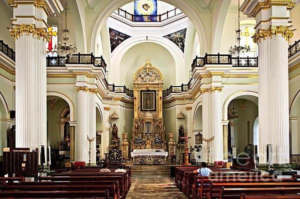 Church Interior In Puerto Vallarta Print by Elena Elisseeva