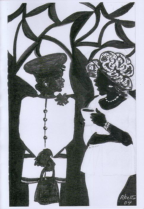 Church Ladies Print by Rhetta Hughes