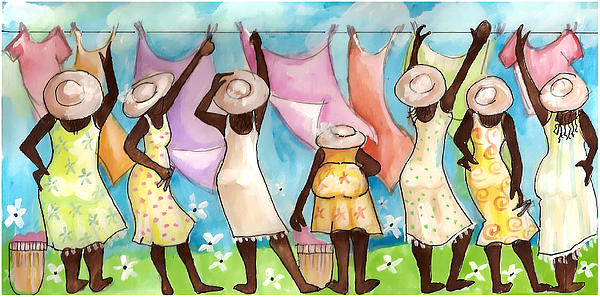 Churchlady Clothesline Painting