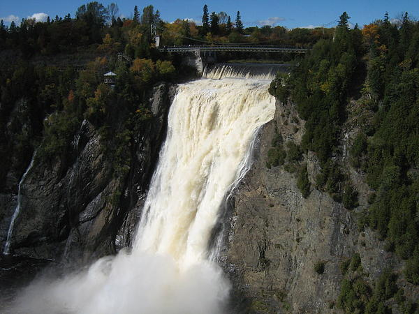 Chutes Montmorency Quebec City Print by Margarete M Kedl