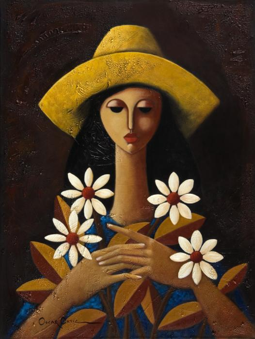 Cinco Margaritas Print by Oscar Ortiz