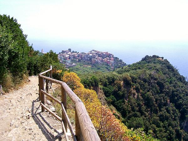 Cinqre Terre Corniglia From The Trail Print by Marilyn Dunlap