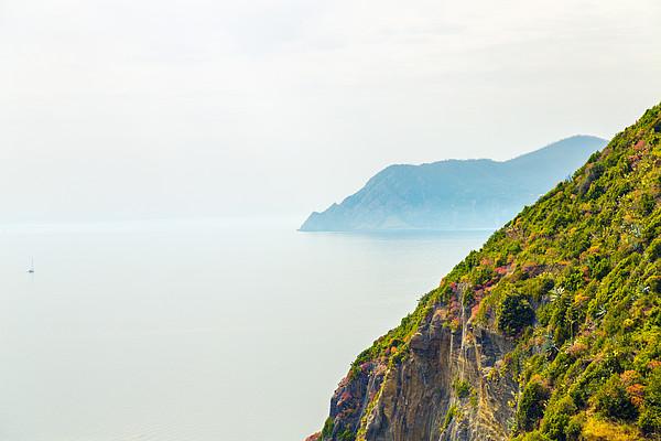Cinque Terre Coastline Print by Michal Krakowiak