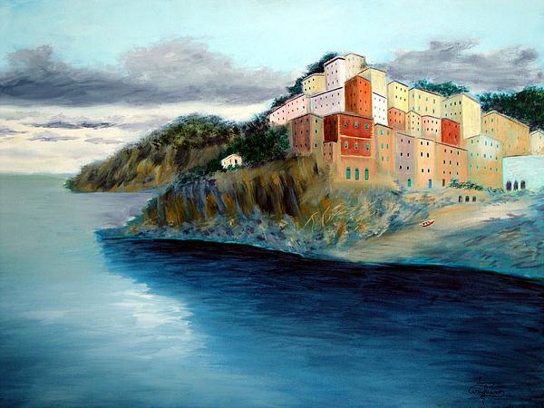 Cinque Terre Print by Larry Cirigliano