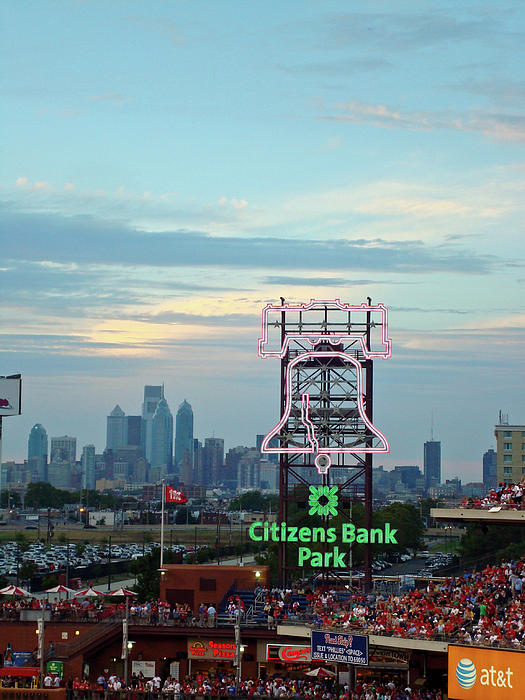 Citizens Bank Park 1 Print by See Me Beautiful Photography