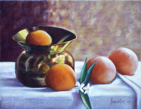 Citrus And Copper Print by Sonsoles Shack