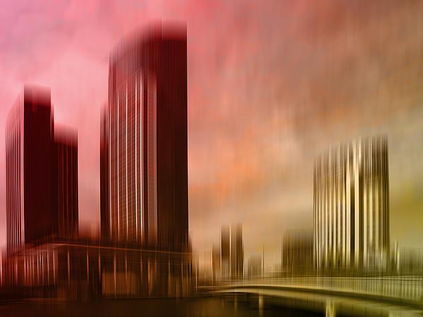 City Shapes Melbourne II Print by Melanie Viola