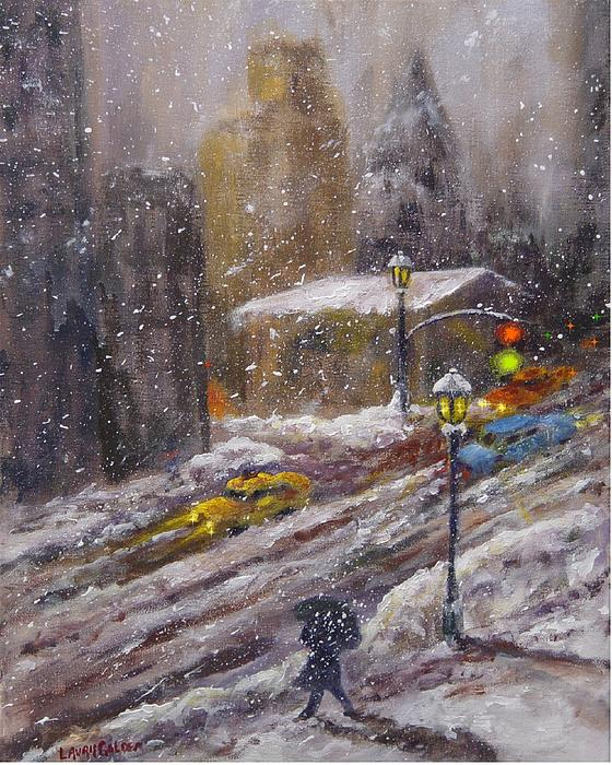 Laurie Golden - City Snow Fall