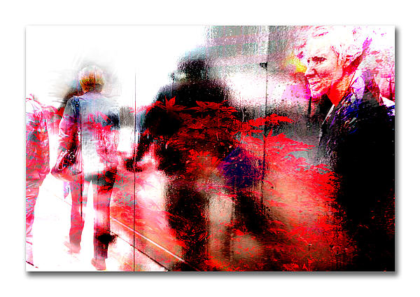 City Street Reflections Print by Mal Bray