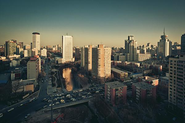 Cityscape Of Beijing, China Print by Yiu Yu Hoi