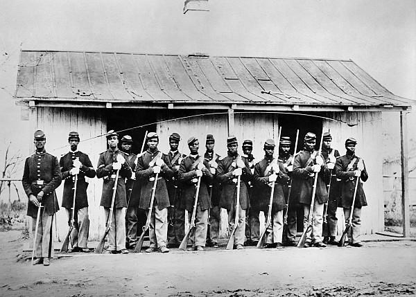 Civil War: Black Troops Print by Granger