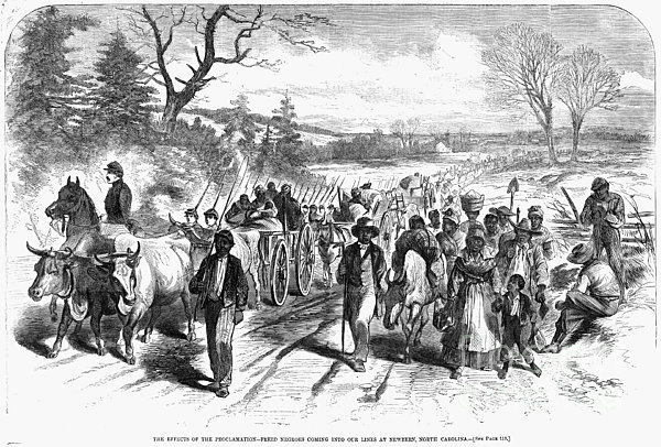 Civil War: Freedmen, 1863 Print by Granger