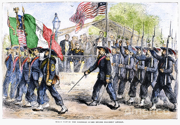 Civil War: Garibaldi Guard Print by Granger