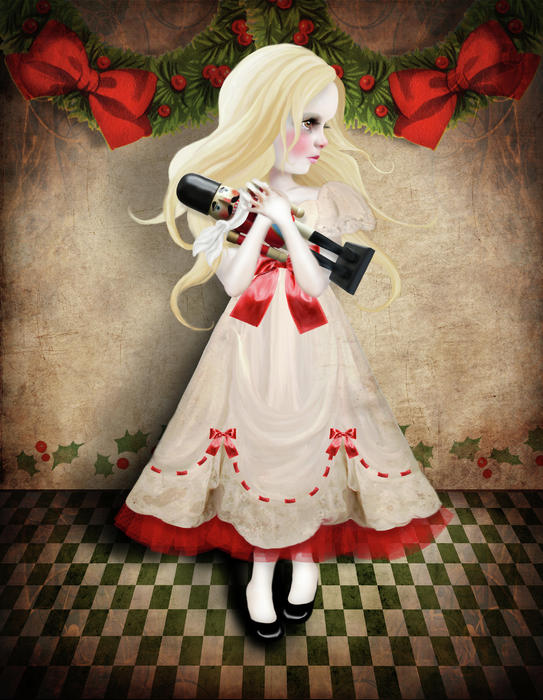 Clara And The Nutcracker Digital Art  - Clara And The Nutcracker Fine Art Print