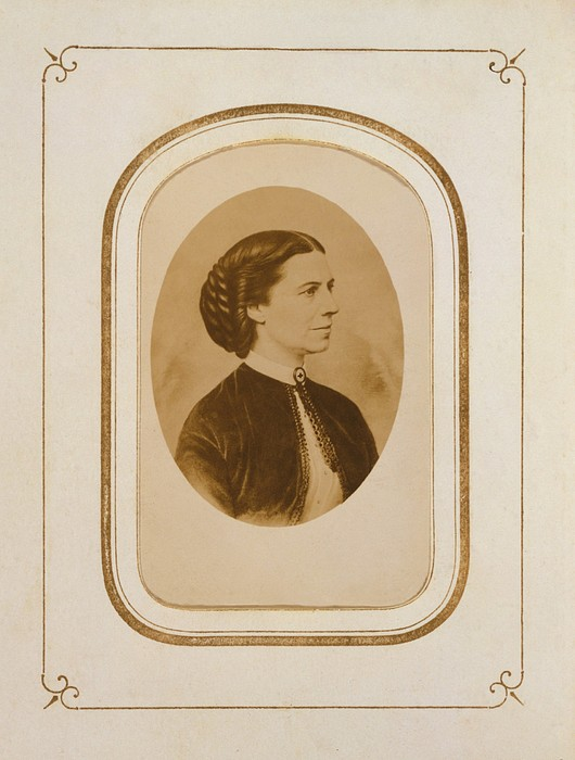 Clara Barton 1821-1912, At The End Print by Everett