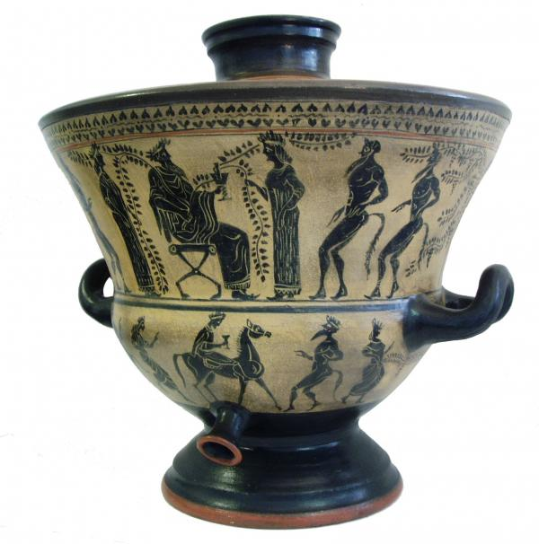 Clasic Greek Pot For Wine - Cooler Ceramic Art