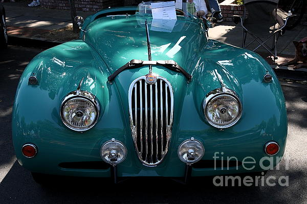 Classic Green Jaguar . 40d9411 Print by Wingsdomain Art and Photography