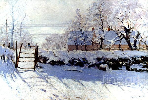 Claude Monet: The Magpie Print by Granger