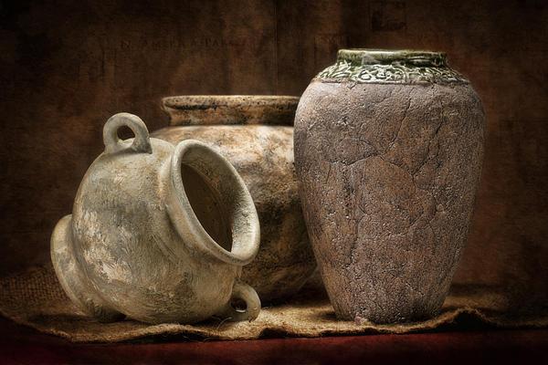 Clay Pottery II Print by Tom Mc Nemar