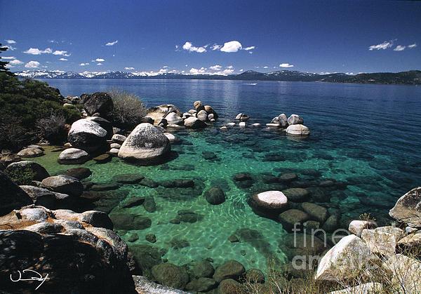 Clear Water Lake Tahoe Print by Vance Fox