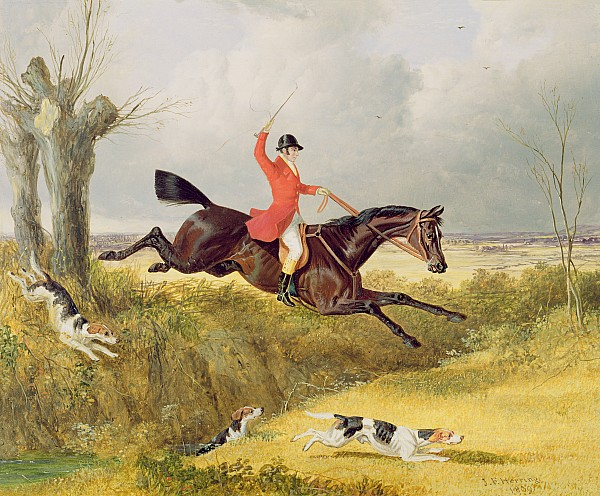 Clearing A Ditch Print by John Frederick Herring Snr