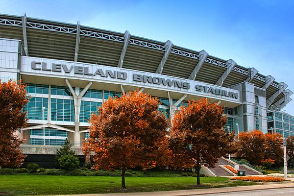 Cleveland Browns Stadium Print by Kenneth Krolikowski