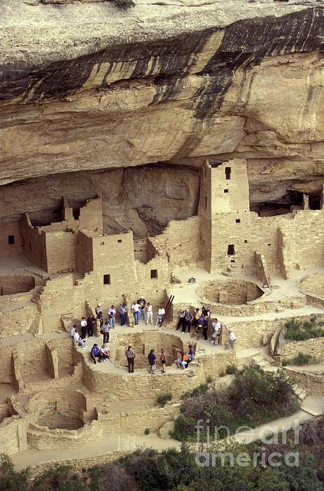 Cliff Palace Kiva Mesa Verde Print by John  Mitchell