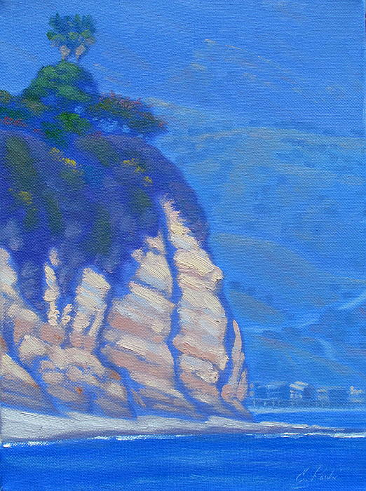 Cliffs At Point Dume Print by Elena Roche
