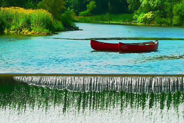 Clinton Canoes Print by Jeff Stein