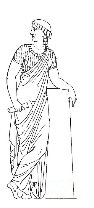 Clio, Muse Of History Print by Granger