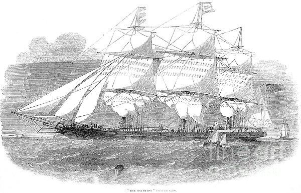 Clipper Ship, 1853 Print by Granger