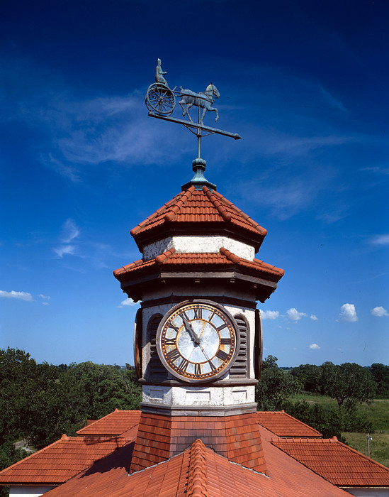Clock Tower And Weathervane, Longview Print by Everett